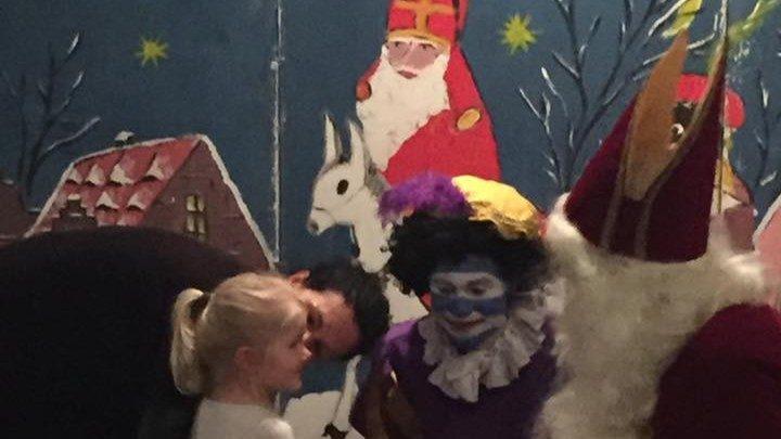Sint en Piet weer bij Blauw-Wit!!