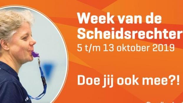 5 t/m 13 oktober Week van de Scheidsrechter